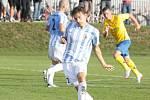 Prostějovští fotbalisté (v pruhovaném) v poháru proti Zlínu