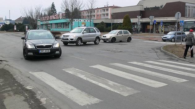 Křižovatka E. Valenty s Olomouckou