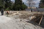 Rozšiřování botanické zahrady směrem k bývalým kasárnám v Jezdecké ulici v Prostějově – 9. dubna 2014