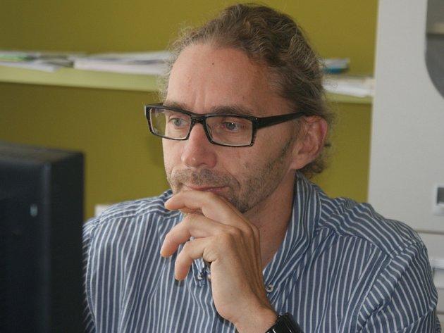 Radim Šlachta, vedoucí Sport Agel Clinic vProstějově, při on-line rozhovoru Deníku