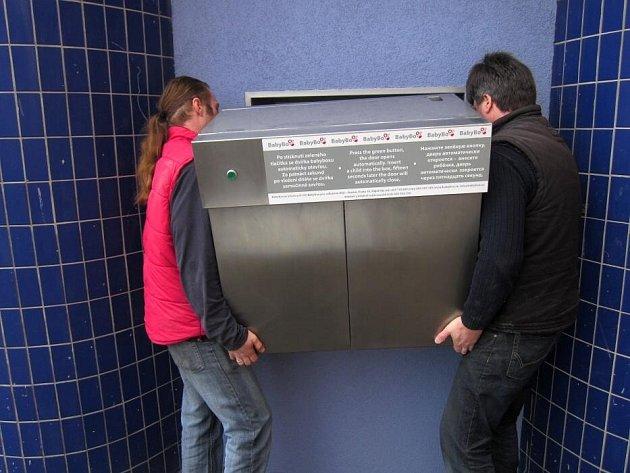 Instalace babyboxu v Prostějově