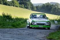 Roman Burget při Rally Morava.