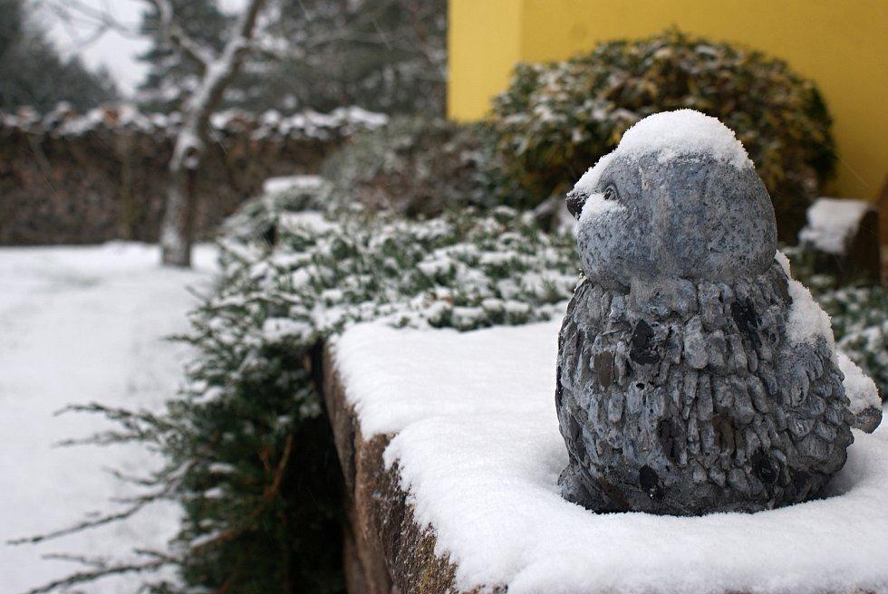 První sníh na Plumlovsku - 3. 12. 2020