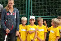 """Petra Kvitová a Tomáš Berdych na akci """"Hledáme vítěze fedcupového a daviscupového týmu"""""""