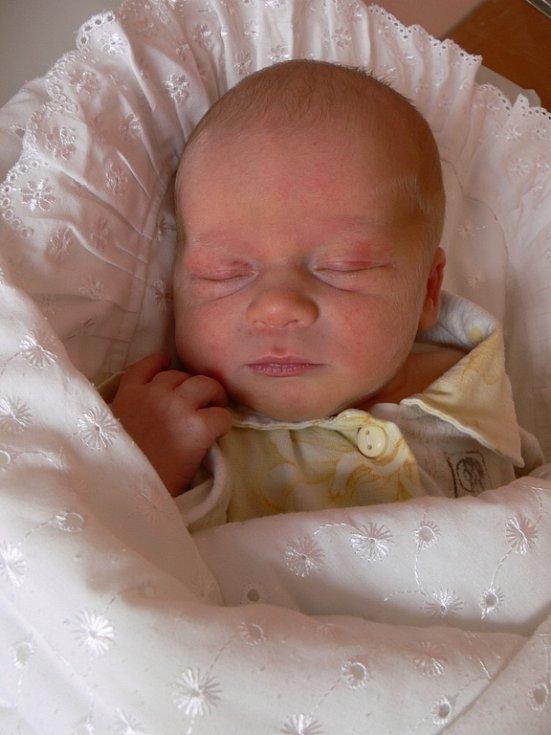 Dominik Janura, Prostějov, narozen 3. prosince v Prostějově, míra 49 cm, 3000 g