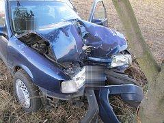 Nehoda řidičky u Výšovic