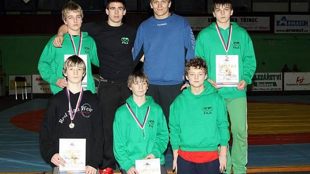 Mladí zápasníci oddílu TJ Sokol Čechovice
