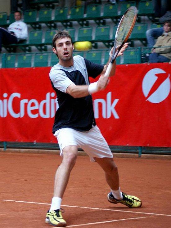 Marcel Granollers v zápase proti Nieminenovi