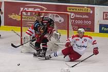 Hokejové utkání mezi SK Horácká Slavia Třebíč a LHK Jestřábi Prostějov.