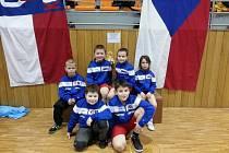 Mladí zápasníci Sokola I. Prostějov v Hodoníně