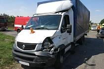 Nehoda tří aut ve Vrbátkách