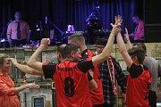 Fotbalový ples, sokolovna Kostelec na Hané