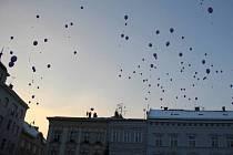Vypouštění balonků s přáním Ježíškovi v Prostějově