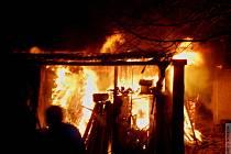 Požár hospodářského stavení v Horním Štěpánově
