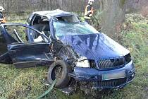 Dopravní nehoda u obce Čehovice na Prostějovsku.