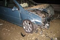 Nehoda opelu na dálnici