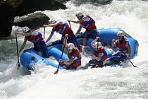 Raftařky z klubu WD Prostějov na MS v raftingu
