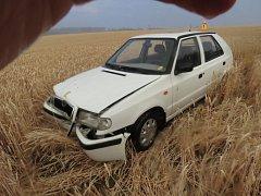 Řidič havaroval u Alojzova, nikdo se naštěstí nezranil.