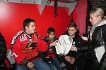 Setkání dětí z Tetína s hokejisty Prostějova. 6.2. 2020