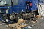 V pondělí 9. března 2020 ochromila dálnici D46 ve směru z Olomouce do Prostějova nehoda dvou kamionů.