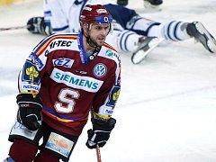 Jiří Vykoukal v extraligovém semifinále Sparta vs. Liberec v březnu 2007