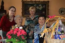Anastázie Pospíšilová z Držovic oslavila 102. narozeniny