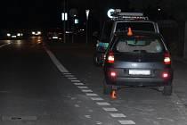Nehoda renaultu s cyklistou na Okružní ulici v Prostějově