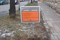 Poštovní schránka na rohu ulic Kollárova a Svatoplukova v Prostějově
