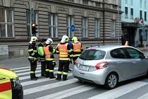 V Palackého ulici v Prostějově došlo ke sražení cyklisty. Z místa ho odvezla sanitka.