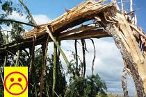 Následky bouřky ve Víceměřicích - 3. září 2015