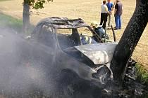 Letos v květnu havarovalo na Konicku osobní auto.