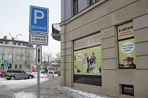 Parkování v centru Prostějova