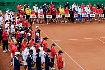 V Prostějově začalo tenisové MS týmů do 14 let. Zahajovací ceremoniál.