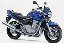 Motocykl značky Suzuki. Ilustrační foto