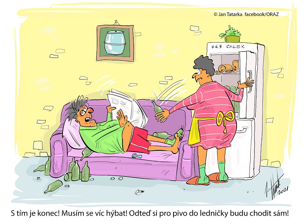 Vtip kreslíře Jana Tatarky z Mostkovic