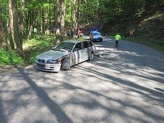 Při nehodě u Malého Hradiska se zranili tři lidé.