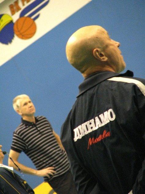 Trenéři Miroslav Čada a Valerij Losev (vpravo).
