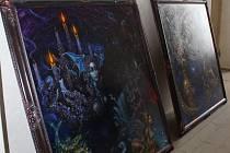 Obrazy nevšedního malíře Reona Argondiana na plumlovském zámku