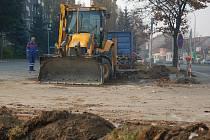 Stavební práce v Dolní ulici