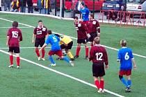 B-tým Konice (v modro-červeném). Ilustrační foto