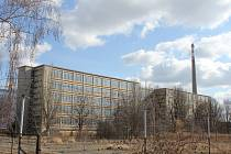 Bývalý oděvní gigant OP Prostějov. Hlavní budova