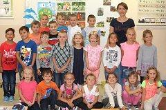 Žáci 1. A ze ZŠ Dr. Horáka, Prostějov s paní učitelkou Janou Kissovou