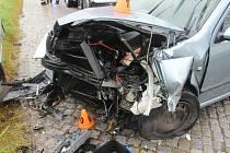 Nehoda mezi Výšovicemi a Bedihoštěm, důvodem byly nejspíše mokré kostky. 4.8.2020