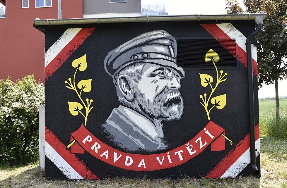 Trafostanici v Okružní ulici vyzdobili hokejoví fanoušci Fans of Prostějov 1913.