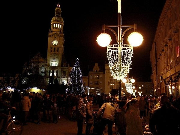 Rozsvícení vánočního stromu vProstějově
