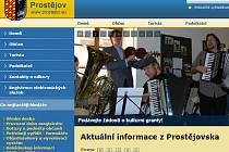 Výřez z webových stránek města Prostějova