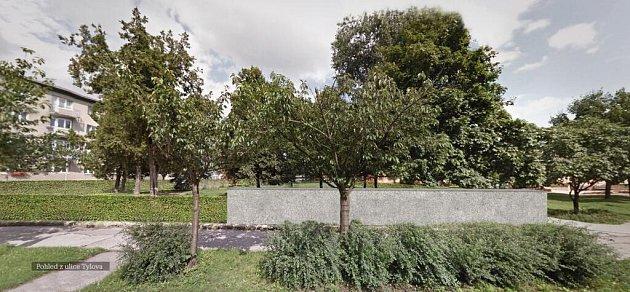 Vizualizace úprav bývalého židovského hřbitova - Tylova ulice