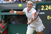 Petra Kvitová ve finále Wimbledonu
