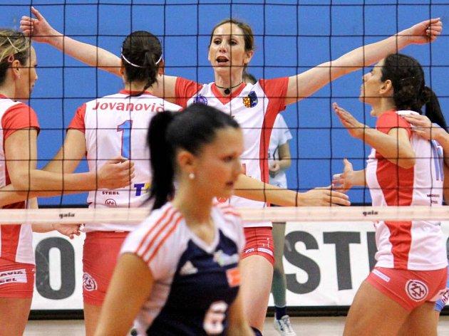 Volejbalistky Prostějova proti Olomouci