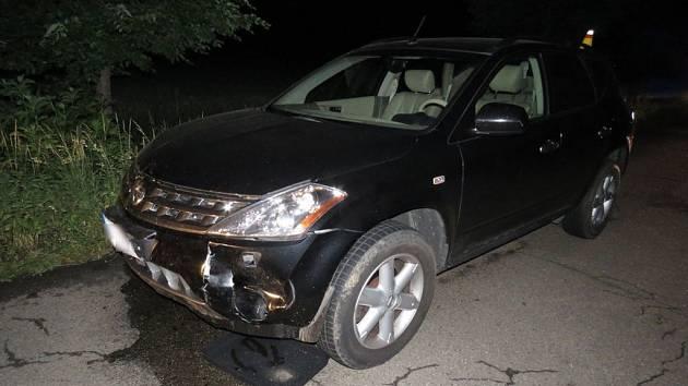 Srnec nepřežil srážku s autem u Olšan